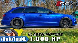 1000HP AUDI RS6 Klasen Motors REVIEW POV on AUTOBAHN by AutoTopNL