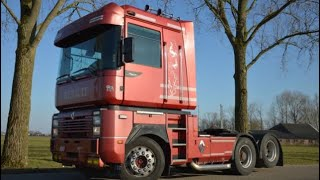 Truck V8 Mack Renault Magnum 560 TBV-Gearbox electronic shifting+clutchpedal/LKW V8 fahren