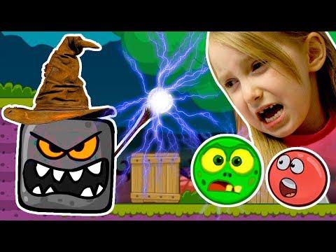Новый Злой Черный Квадрат Превратил Красный Шарик и Серый Шарик в Зомби Мультик Игра Видео для Детей
