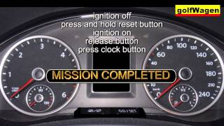 VW POLO SERVICE light RESET
