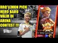 WOW !!! RRQ'Lemon Pick Hero Baru Valir di Arena Contest !!! INDONESIA VS TAIWAN MLBB