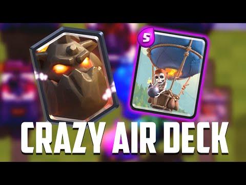 Clash Royale - INSANE Lava Hound Deck! Air Troop Madness