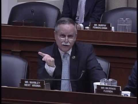 Rep. McKinley questions panel on coal ash Friday.
