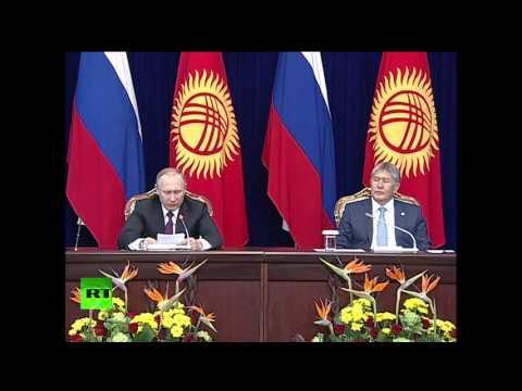 Пресс-конференция Владимира Путина и Алмазбека Атамбаева