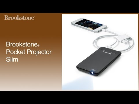 Brookstone pocket projector slim how to use how to save for Used pocket projector
