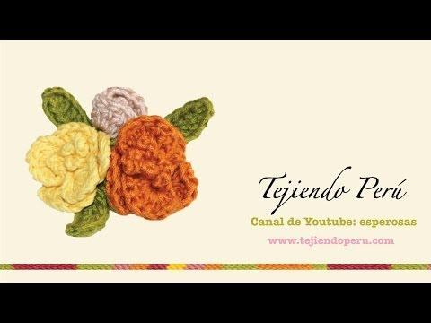 Flores tejidas en crochet (bouquet)