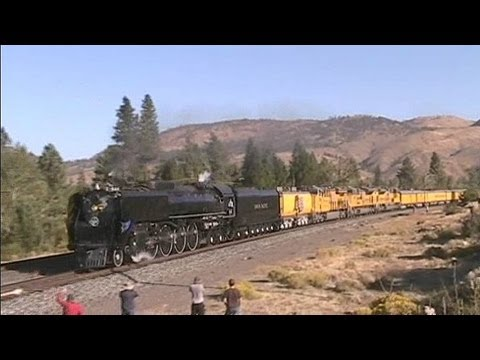UP 844 and the 150th Anniversary Train through Donner Pass