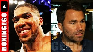 ANTHONY JOSHUA TELLING FANS TO TRAIN FOR WILDER FIGHT, TANK VS RYAN GARCIA SPAR, LIVE CHAT