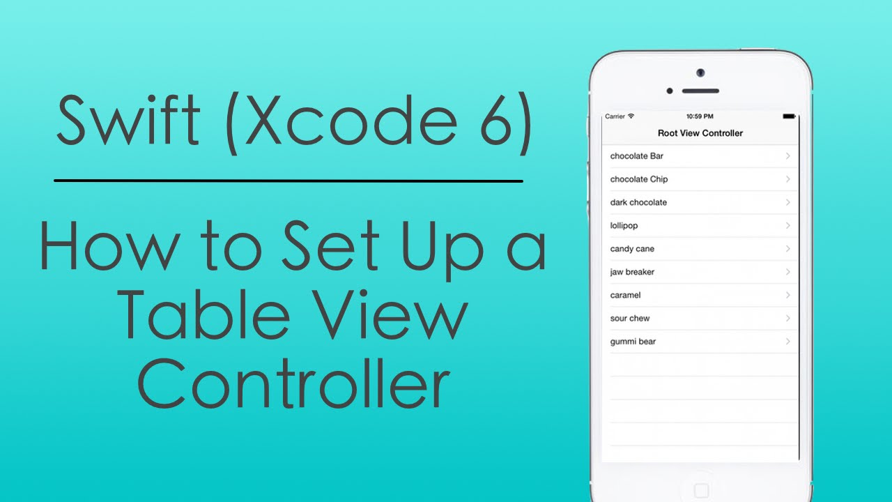 How to set up a table view controller with swift in xcode for Xcode 6 tableview