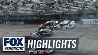 Ryan Blaney gets caught in big wreck after strong start | 2018 BRISTOL | FOX NASCAR