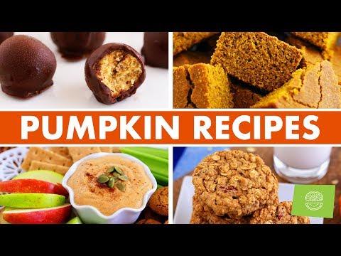 Healthy PUMPKIN SEASON Fall Recipes! Pumpkin Cornbread, Cookies, Truffles, & more!