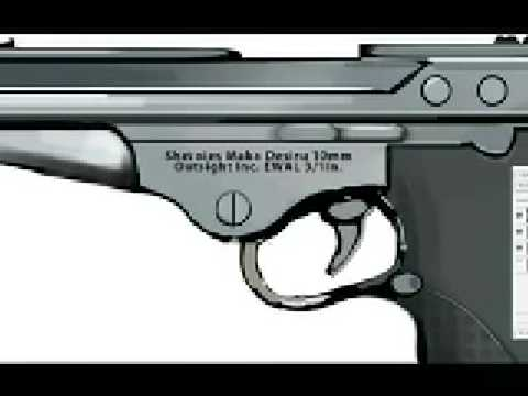 Speedpainting a Pistol in Photoshop CS3 - Sketching from Scratch Video
