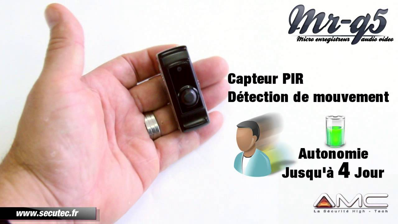 micro camera portable avec d tection de mouvement pir secutec fr youtube. Black Bedroom Furniture Sets. Home Design Ideas