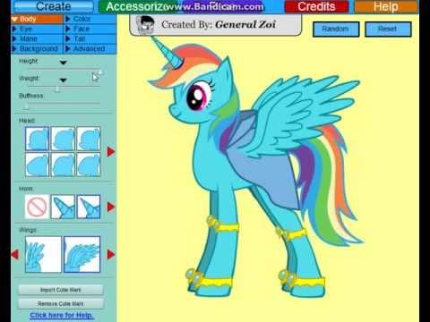 Game | Flash Game.. Create a Rainbow Dash Alicorn!! | Flash Game.. Create a Rainbow Dash Alicorn!!