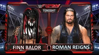 Wwe 2k16 - Finn Balor Vs.  Roman Reigns (last gen PS3).