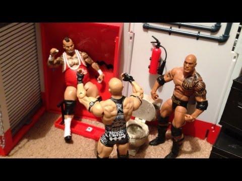 GTS WRESTLING: Backstage Brawl! Steel Cage Match! Divas War Games! WWE figure matches animation