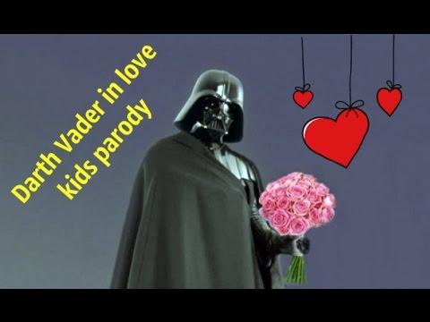 Star wars Darth Vader in love. KIDS parody. Luke vs Vader. Giant surprise egg toy play doh for kids