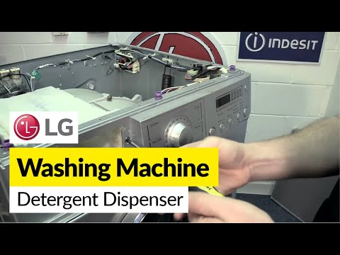 How to replace the soap dispenser housing on an LG washing machine