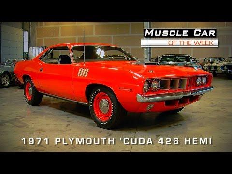 Muscle Car Of The Week Video #68:  1971 Hemi 'Cuda
