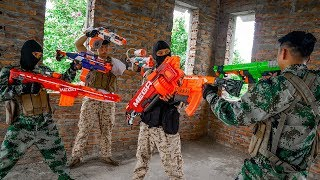 Nerf War: Special Forces America Nerf Battle Bodyguard Battle in Wild House NERF MOVIES