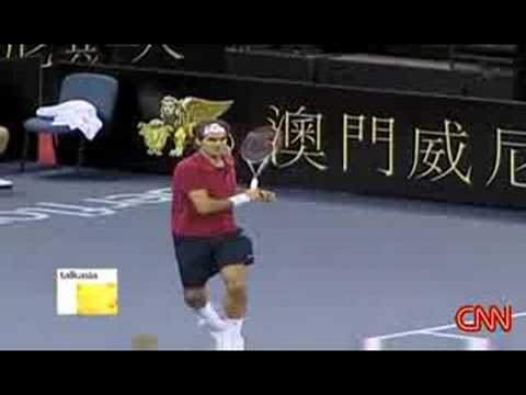 Roger Federer interview talk asia part 1 Video