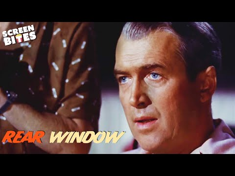 Rear Window   Caught In The Act   James Stewart and Grace Kelly