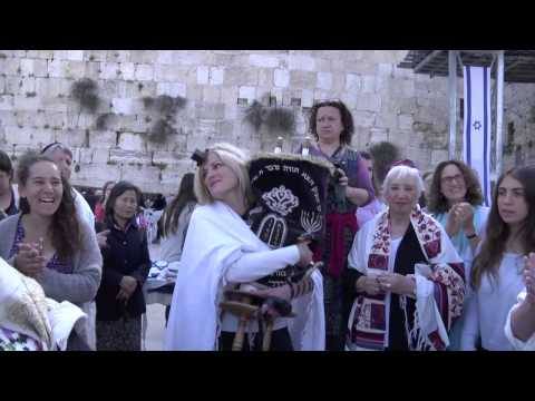 Thumbnail image for 'Women defy Orthodox rule, read from Torah scroll at the Kotel'