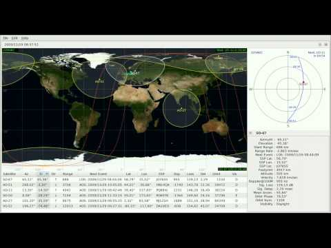 Satellite SO-67 recording Nov 29, 2009 (orbit 1104)