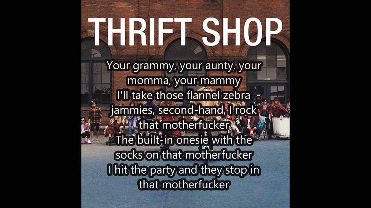 macklemore ft ryan lewis thrift shop lyrics hd youtube
