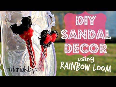 DIY Rainbow Loom Sandal Decor Tutorial | How To