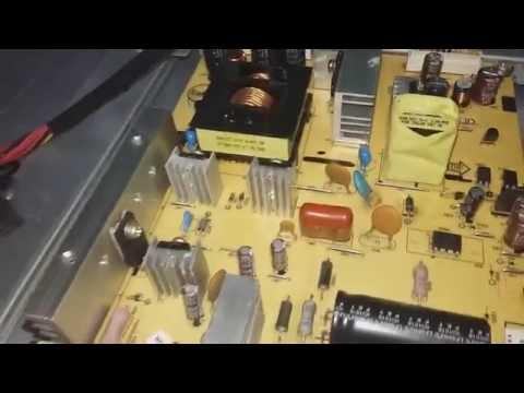TV LED AOC D32W931 NÃO LIGA. CONSERTANDO TV LED 32