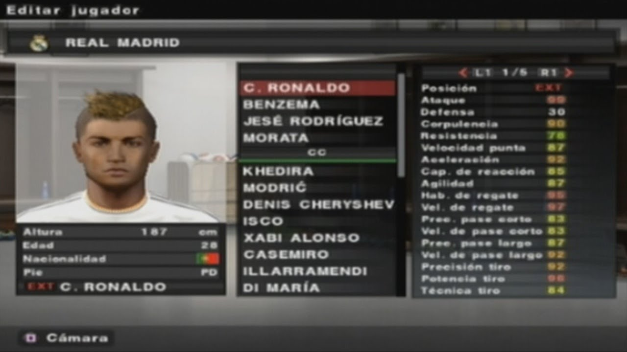 Pes 2014 Ps2 Real Madrid All