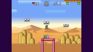 Super Mario Bros. X (SMBX) Custom Level - Desert Pyramid Catacombs