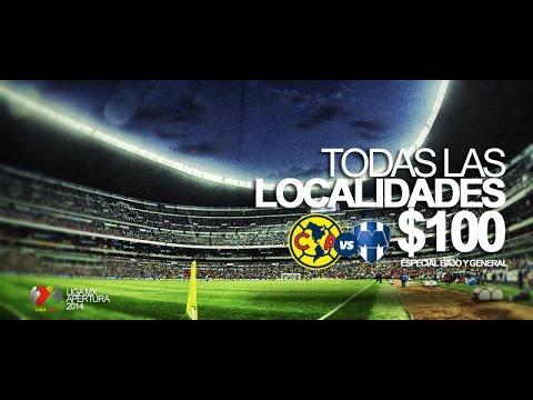Asiste al Estadio Azteca al partido América Monterrey