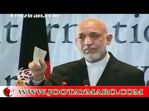Hamid Karzai a selfish bitc* with crocodile tears.