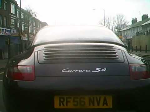 Cyclist vs Porsche Carrera S4