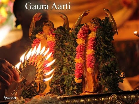 Sri Gaura Aarati (iskcon Vrindavan) video