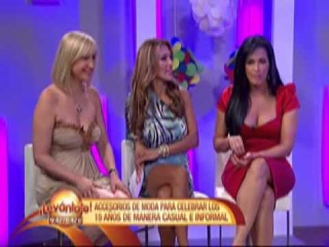 TV show Levantate in Miami, showing some good and affordable dresses 2011