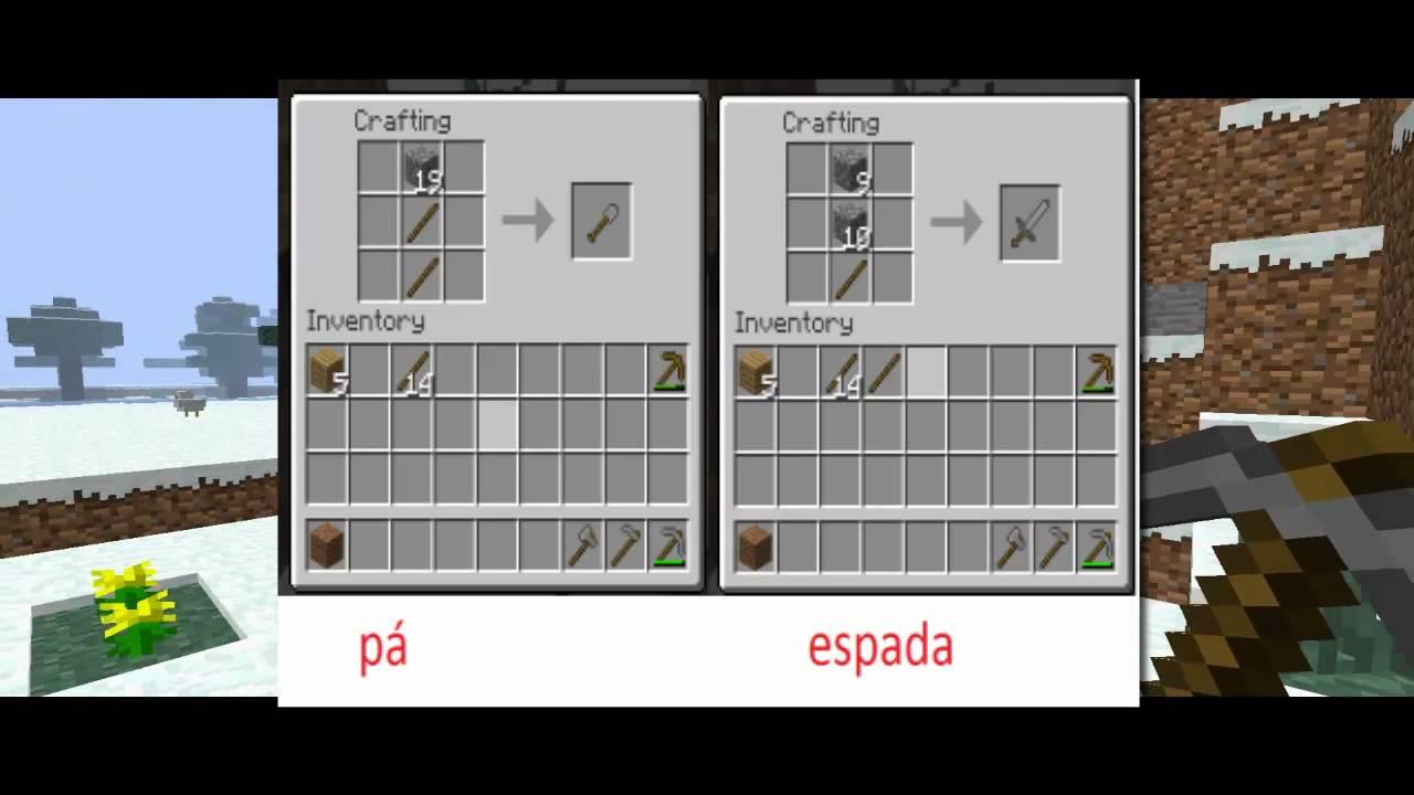 minecraft •Como Fazer ferramentas•  YouTube -> Como Fazer Banheiro Moderno No Minecraft
