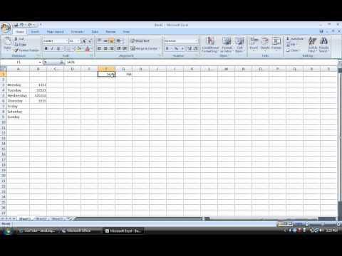 Tutorial 3: Microsft Accel 2007