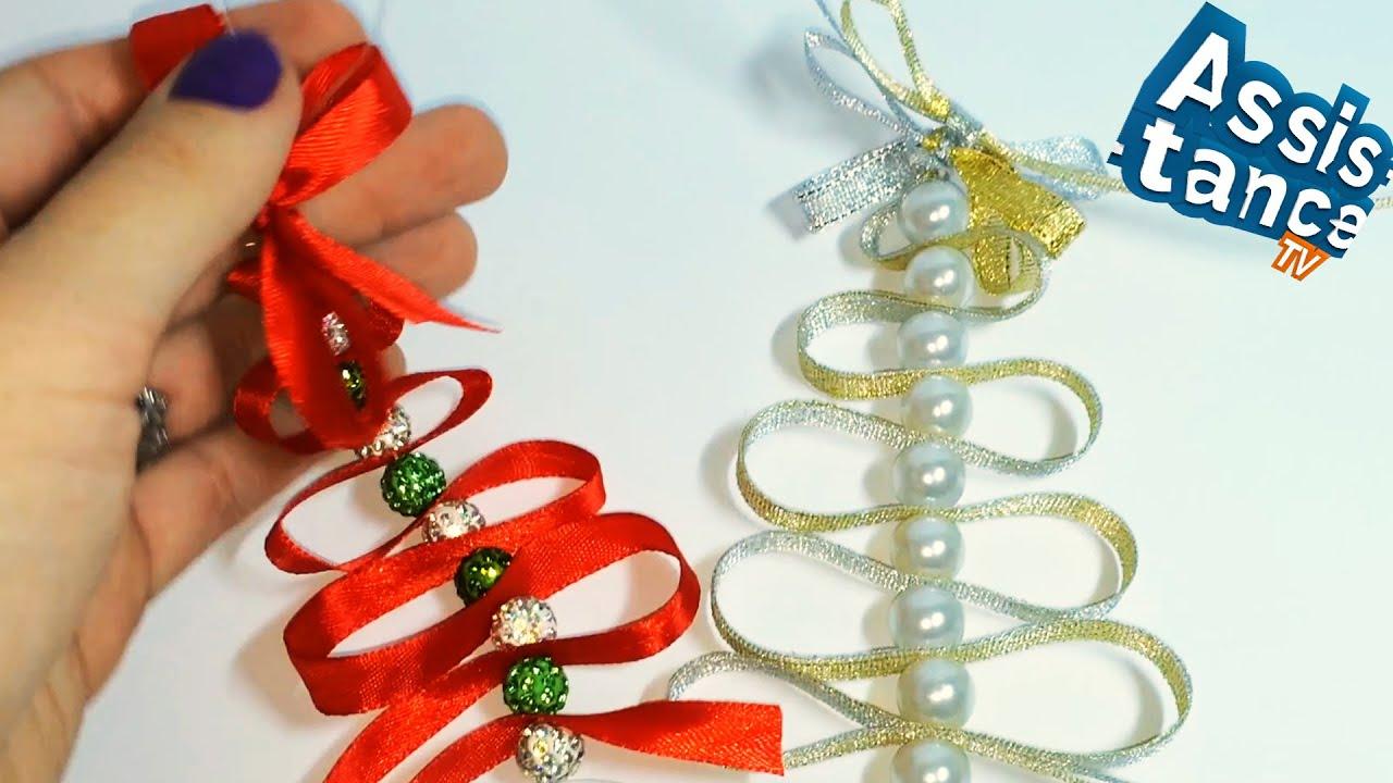 Новогодние украшения своими руками из ленты