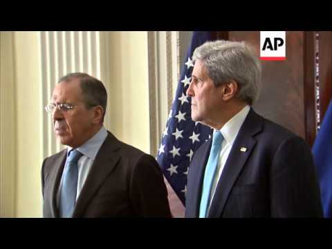 Kerry with Lavrov, comments, Kerry with Cameron and Hague