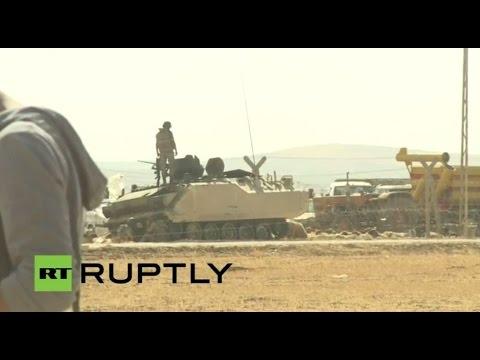 Live From Kobane ayn Al Arab At Syrian-turkish Border video