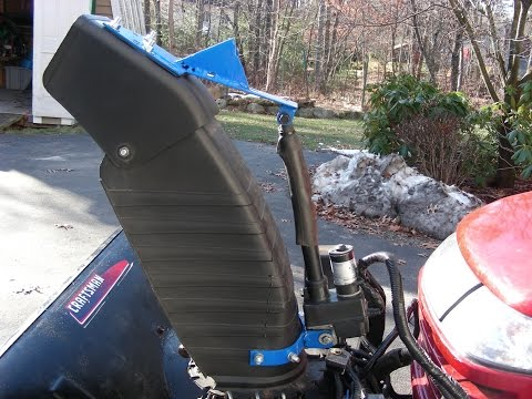 Electric Craftsman snow blower lift. direction and angle control mod