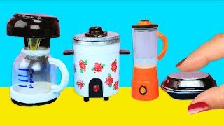 How to Make Miniature Kitchen & Home Appliances: Blender, Rice Cooker, Griddle, Coffee Maker, etc