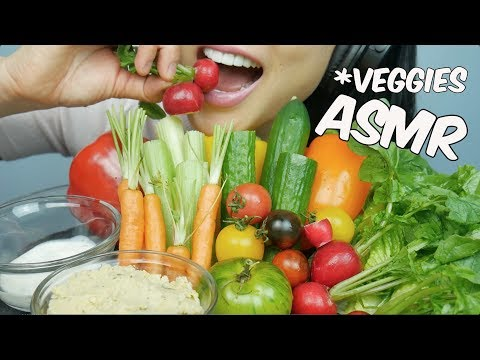 ASMR Veggie Platter (EXTREME CRUNCHY EATING SOUNDS) No Talking | SAS-ASMR