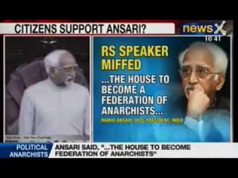 NewsX: Will RS uproar continue over Hamid Ansari's remark?