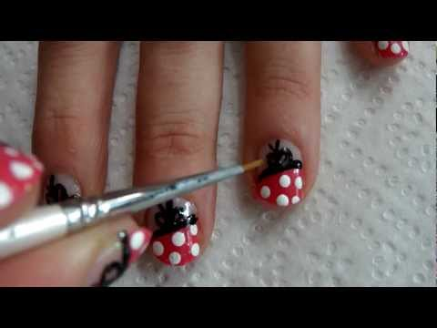 Tutorial uñas decoradas (Nail art) en vídeo Nº28 Uñas Lolita.MP4