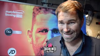 """HE (FRANK WARREN) IS THE THOMAS COOK OF BOXING!"" EDDIE HEARN CLAPS BACK @ FRANK WARREN'S COMMENTS!"