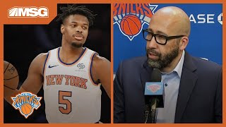 Fizdale Assesses Point Guard Play, Barrett's Performance vs. Hawks | New York Knicks